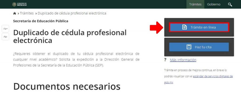 Reposición de cédula profesional México 1