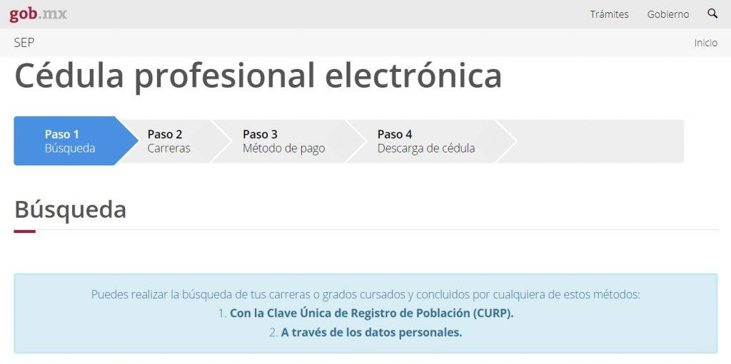 Reposición de cédula profesional México 2