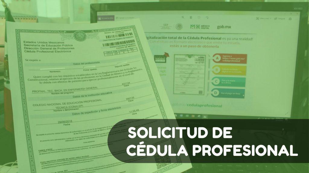 Solicitud de cédula profesional México